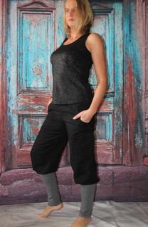 Knickerbocker Pumphose schwarze Leinenhose mit Stulpen Hose handgefertigt