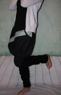 schwarzer Ballonrock Ballon-Rock Kunstleder Jeans Rock mit Muster Gr. 34 - 44