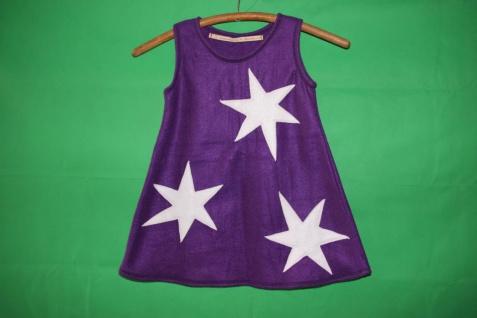 Kleid Sterne Überzieh Kleid Fleecekleid Stern handgefertigt