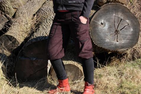 Knickerbocker Pumphose Cord mit Stulpen handgefertigt
