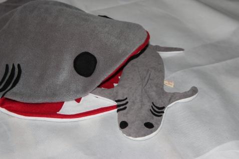 Hai Wärmekissen Körnerkissen Hai Weizen Kissen handgefertigt