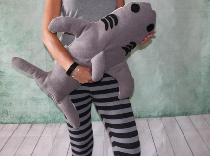 Hai Kissen Kuschelkissen Hai Plüschtier super großes Kissen