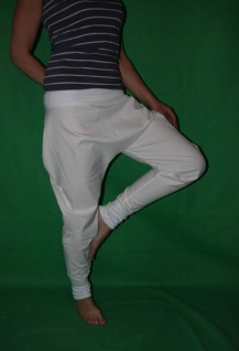 Haremshose weiß oder schwarz Pumphose Sarouel Baggy Hose