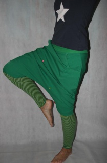 Knickerbocker Pumphose gestreifte Stulpen Harmeshose handgefertigt