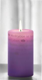 WORTlicht Kerze Leuchtende Gedanken zur Meditation