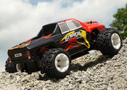 RC BUGGY TRUGGY über 40 Km/h schnell in 1:24 mit METALL-CHASSIS & LIPO AKKU