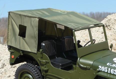 Zubehör DACH-PLANE mit BÜGEL für RC MAXI Jeep WILLYS