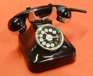 RETRO Uhr Miniatur-Uhr Schreibtischuhr Modell TELEFON in TOP QUALITÄT