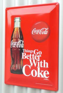 Retro Maxi Blechschild Coca-cola Flasche Größe 30x40cm GewÖlbt - Vorschau 2