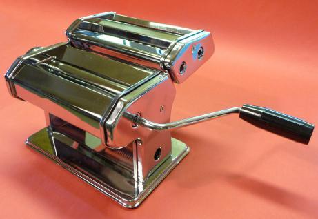 Profi Nudelmaschine Pastamaschine Chrom + Aufsatz In Top QualitÄt - Vorschau 1