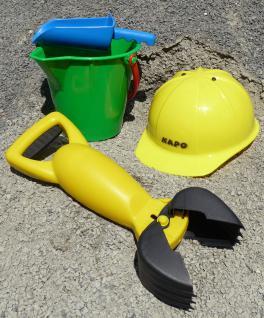 Sandkastenspielzeug Mit Kinder Bauhelm 4-teilig - Vorschau
