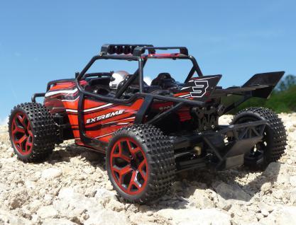Rc Monster Truggy 30cm Mit 4wd Allrad + Akku Ferngesteuert 2, 4ghz - Vorschau 1