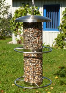 VOGEL FUTTERSTATION Vogel Futterhaus aus Edelstahl WETTERBESTÄNDIG