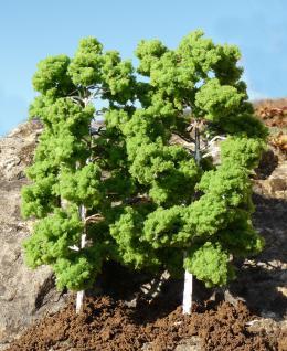 "LAUB Bäume Birke 2 STÜCK 18cm HÖHE passend zu 1:32 ""MADE in GERMANY"""