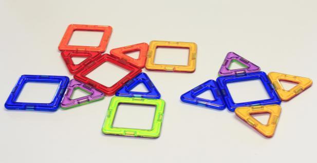 Magformers Quadrate + Dreiecke 14er Set - Vorschau 4