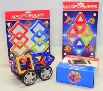 Magformers Quadrate + Dreiecke + Räder 16er Set - Vorschau 1