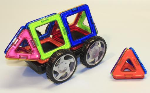 Magformers Quadrate + Dreiecke + Räder 16er Set - Vorschau 2