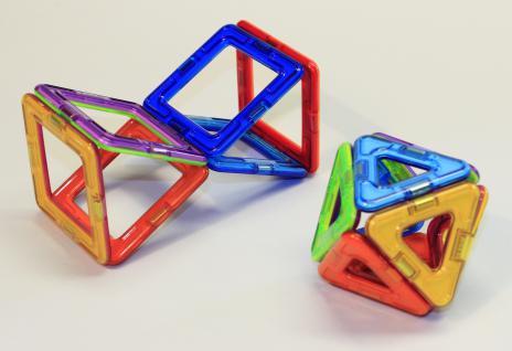 Magformers Quadrate + Dreiecke + Räder 16er Set - Vorschau 4