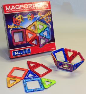 MAGFORMERS 14-teilig Quadrate + Dreiecke