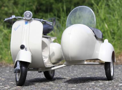 Stand-modell-motorrad Piaggio Vespa 150 Vl1t Mit Beiwagen Länge 30cm - Vorschau 2
