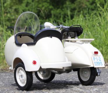 Stand-modell-motorrad Piaggio Vespa 150 Vl1t Mit Beiwagen Länge 30cm - Vorschau 4