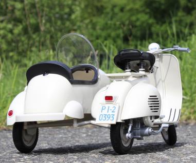 Stand-modell-motorrad Piaggio Vespa 150 Vl1t Mit Beiwagen Länge 30cm - Vorschau 5