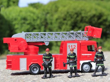 Spielzeug FEUERWEHR LKW + Transporter + Auto + Figuren 6-teiliges SET