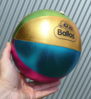 "Kinderball Ballos GLIMMER ø20cm Hülle aus Textil-Stoff ""TOP QUALITÄT"""