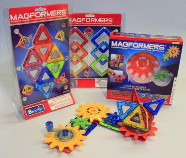 MAGFORMERS Getriebe + Zubehör Quadrate + Dreiecke 34er SET