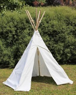 Kinder Tipi Wigwam Indianerzelt ø165 Mit Holz-stangen Und Baumwollstoff - Vorschau 1