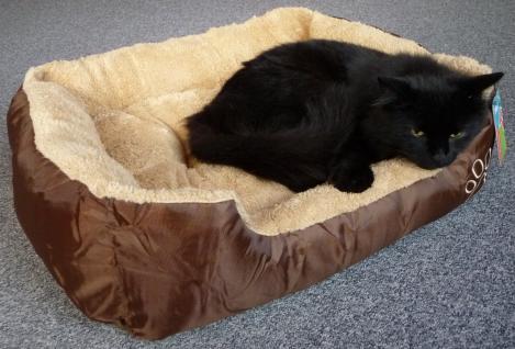 """Katzenbett oder Hundebett 55 x 45cm mit abnehmbarem Kissen """"WASCHBAR"""""""