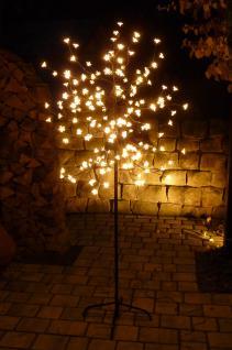 LED BAUM mit 180 BLÜTEN WARMWEISS Höhe 150cm für AUSSEN oder INNEN