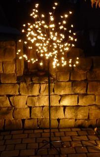 LED BAUM mit 180 BLÜTEN WARMWEISS Höhe 180cm für AUSSEN oder INNEN