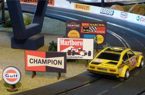 """Slotcar Werbetafel 4er Set In 1:32 Für Carrera Universal / Digital """"top Deko"""" - Vorschau 2"""