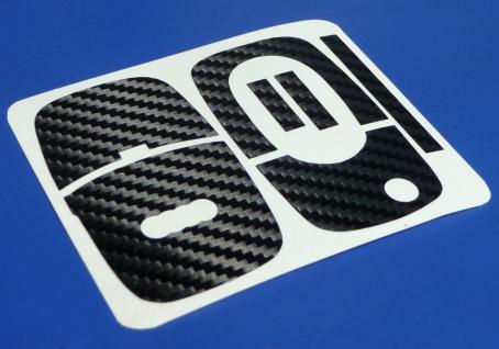 CARBON Schlüssel-Dekor für AUDI mit Klappschlüssel - Vorschau 2