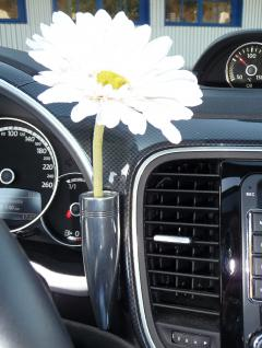 VW Käfer Blumenvase aus ALUMINIUM für KÄFER / NEW BEETLE und BEETLE 5C