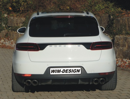 """Heckklappe-design Aufkleber Für Porsche Macan """"made In Germany"""" - Vorschau 5"""