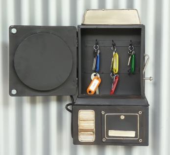 Schlüßelkasten Mit Uhr Retro Vintage Design Telefon Mit Verschluß - Vorschau 2