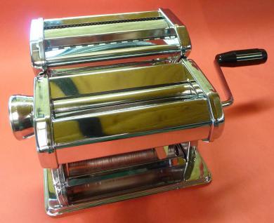 Profi Nudelmaschine Pastamaschine Chrom + Aufsatz In Top QualitÄt - Vorschau 5