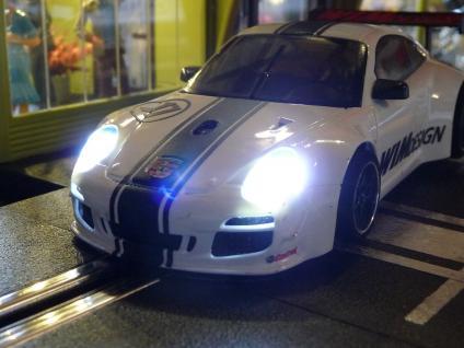 Slotcar LED Beleuchtung XENON-WEISS Front & Heck mit Standlicht für NSR