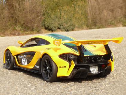 RC Modell McLaren P1 GTR RACING mit LICHT Länge 33cm Ferngesteuert 2, 4GHz
