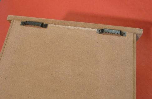 Schlüßelkasten Schlüßelbox Retro Vintage Design Holz/metall Mit Verschluß - Vorschau 5