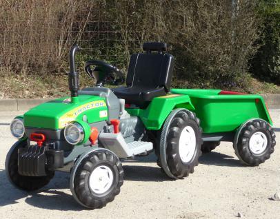 ELEKTRO Traktor mit TURBO-SPEED Gang 12V-AKKU + ANHÄNGER in TOP QUALITÄT