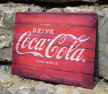 RETRO MAXI Blechschild DRINK Coca-ColaGröße 30x40cm GEWÖLBT