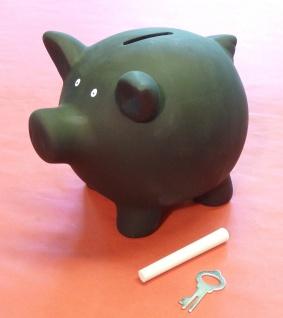 Sparschwein BLACKY Länge 16cm mit KREIDE zum selbst BEMALEN