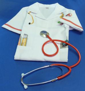 "2er SET Kinder Arztkittel + Stethoskop ""VOLL-Funktionsfähig"""