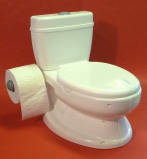Kinder WC Toilettentrainer mit realistischer SOUND-SPÜLUNG
