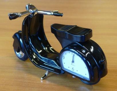 RETRO Uhr Miniatur-Uhr Schreibtischuhr Modell VESPA-ROLLER in TOP QUALITÄT