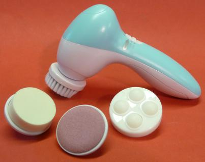GESICHT Hand-Massagegerät elektrisch mit 4 verschiedenen AUFSÄTZEN