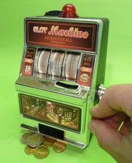 Slotmachine Geld-spielautomat In Mini-größe Mit Realistischer Funktion - Vorschau 2